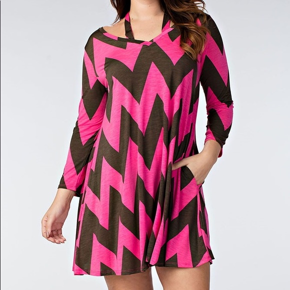 Dresses Chevron Plus Size Tunic Dress Poshmark